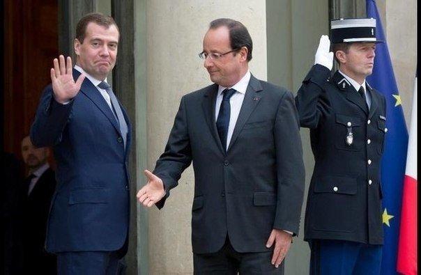 Нерукопожатный президент Олланд, президент, рукопожатие, франция