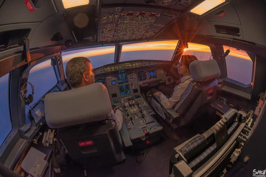 Очень крутые снимки из кабины пилота