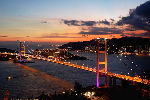 Мост Цинма, Гонконг, Китай