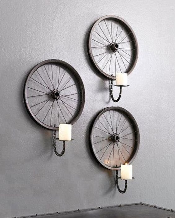 Что можно сделать из старого ржавого велосипедного колеса