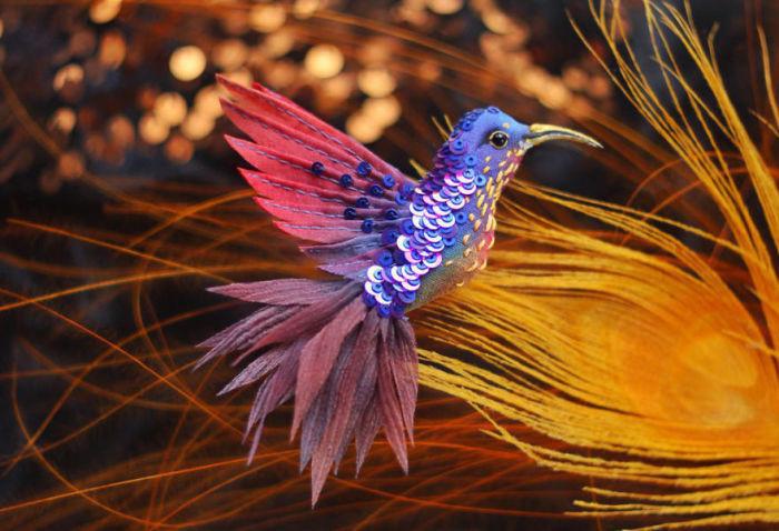 Полёт фантазии: 20 волшебных творений из шелка, бисера, пайеток и страз