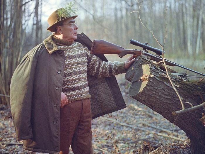 Л.И.Брежнев на охоте