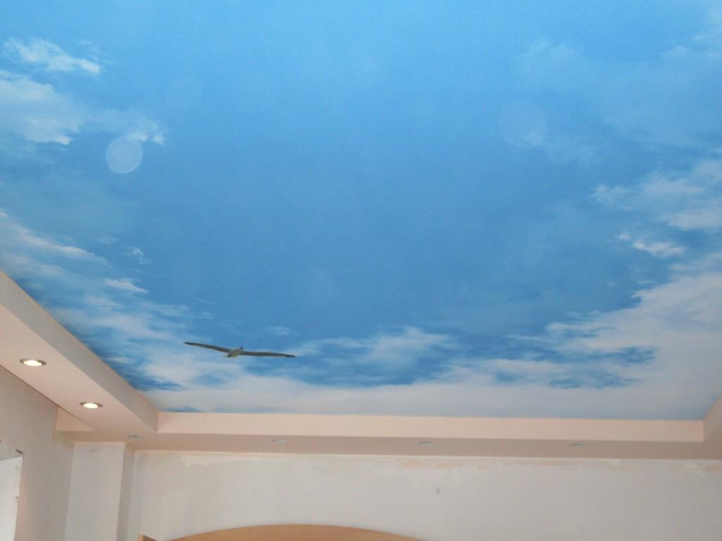 Как сделать небо на потолке