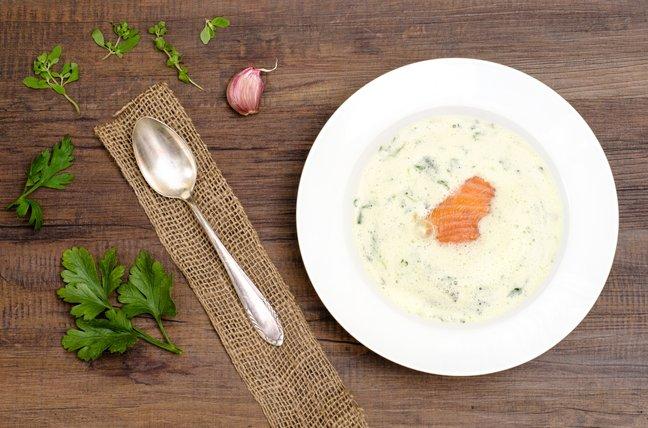 Рецепт: финский сливочный суп с лососем