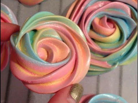 Как сделать розу из крема на палочке