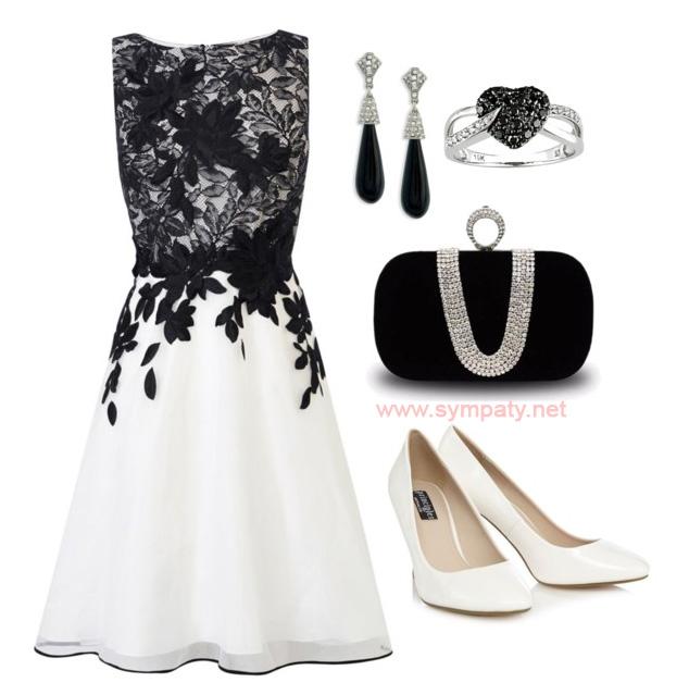 Черное с белым платье: с чем носить?
