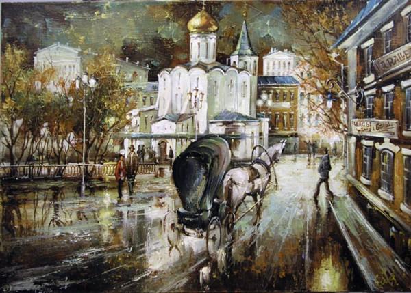 Работы художника Боева Сергея Юрьевича. Городские пейзажи. (33 фото)