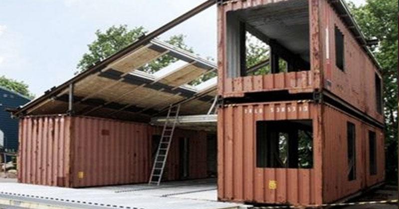 Мужчина использовал три контейнера, чтобы построить дом мечты. Вы только взгляните, что внутри!