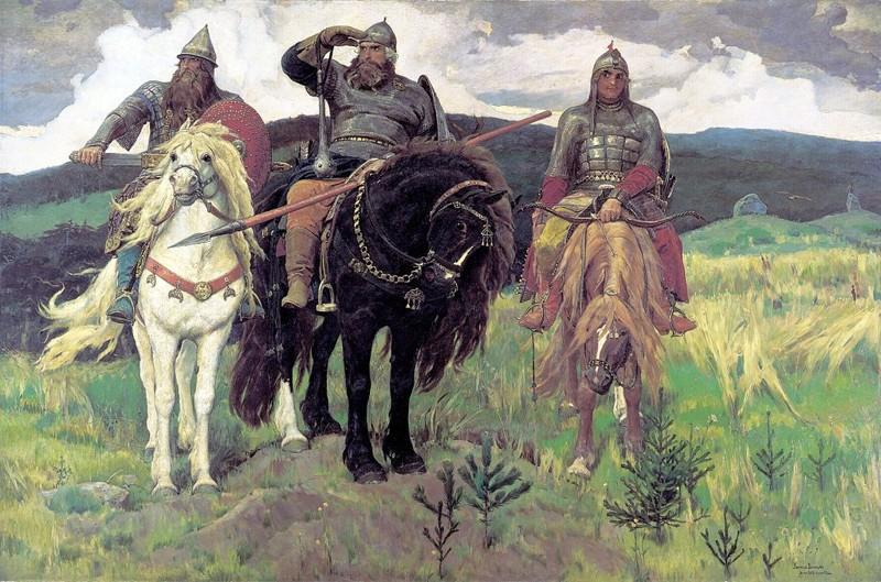 Виктор Васнецов - Богатыри  Васнецов, картины, репин, художники