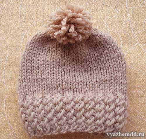 Вязание красивой резинки для шапочек и не только