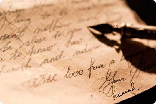 Затертое письмо. История любви
