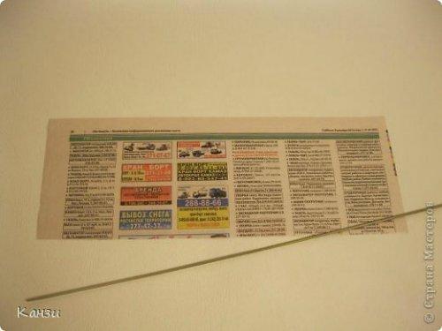 81258c3dcf76 Корзинки из газет с вышивкой лентами. Мастер класс