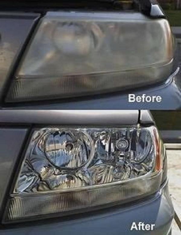 чистка фар автомобиля