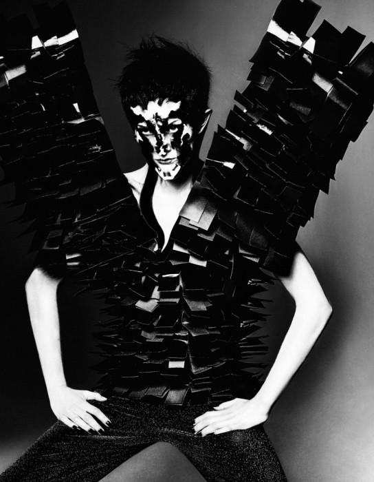 Черные крылья. Модное фото от фотографа Елизаветы Породиной (Elizaveta Porodina).