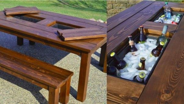 Идеи создания мебели для заднего двора