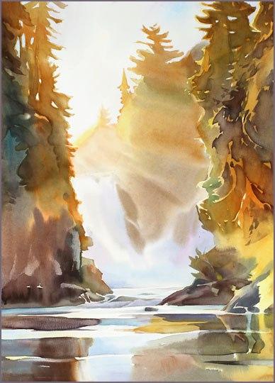 акварель пейзажи David McEown - 10