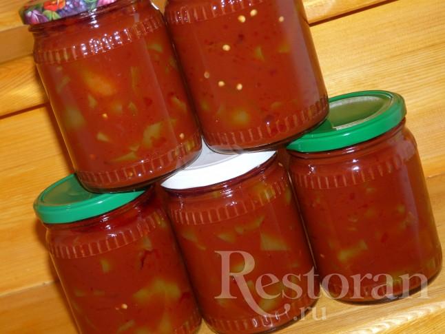 Лечо с томатом рецепт