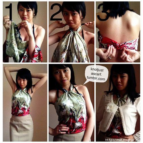 Платок как блуза или топ