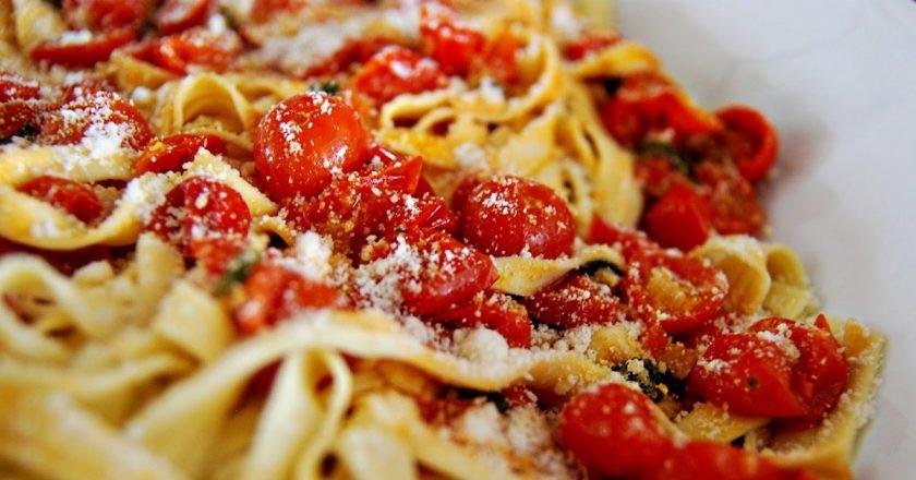Макароны помидорами чесноком рецепт с фото