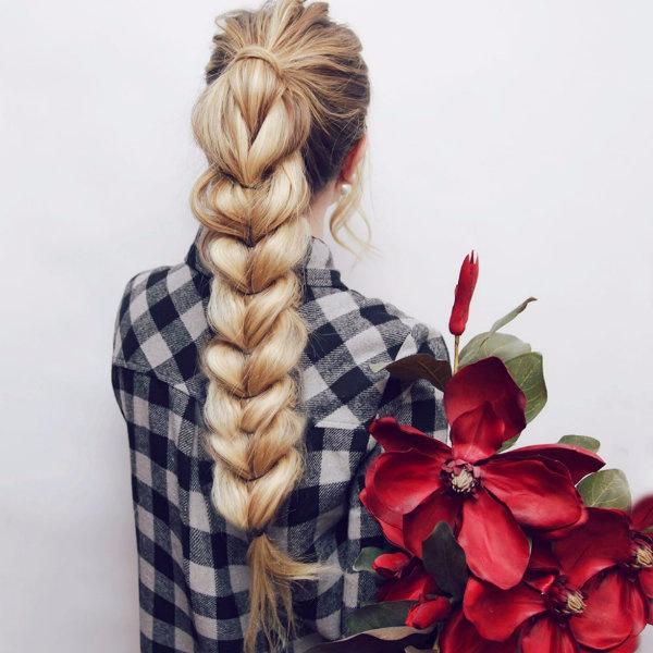 Как сделать косу, если не умеешь плести