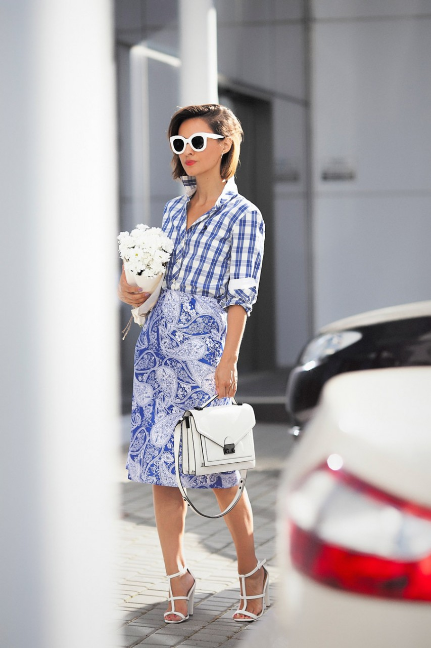mixing prints outfits, summer mixing prints styles, mixing prints styles,