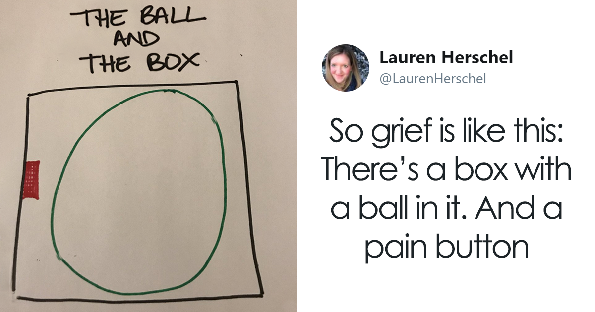 Woman Shares Visual Metaphor That Explains The Stages Of Grief And It's Helping People To Understand Their Loss