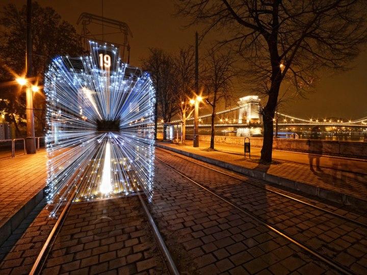 «Рождественский трамвай», Шаболкс Симо CBRE городская фотография 2014 года