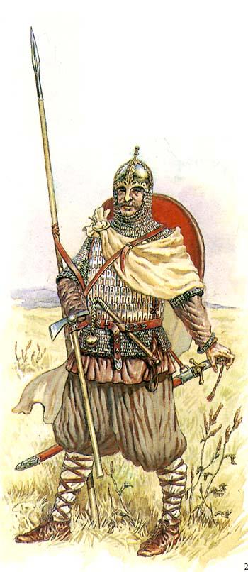 Русский воин с топором