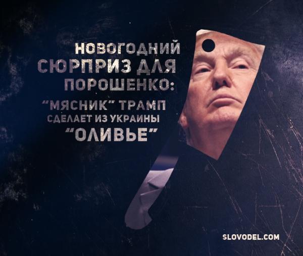 Новогодний сюрприз для Порошенко: «мясник» Трамп сделает из Украины «оливье»