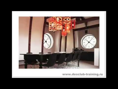 Часы в дизайне интерьера