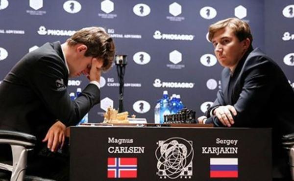 Карякин иКарлсен закончили вничью девятую партию зашахматную корону