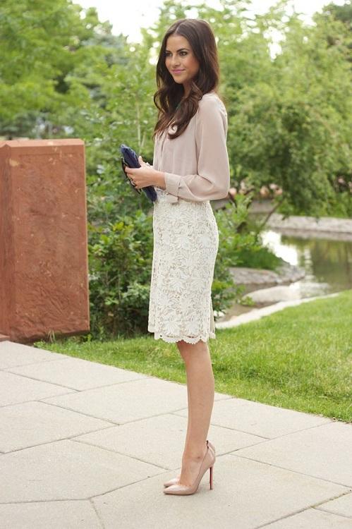 Красивая девушка в белой юбке фото 617-279