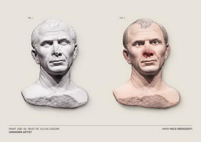 Раскрашенные скульптуры Nico Ordozgoiti