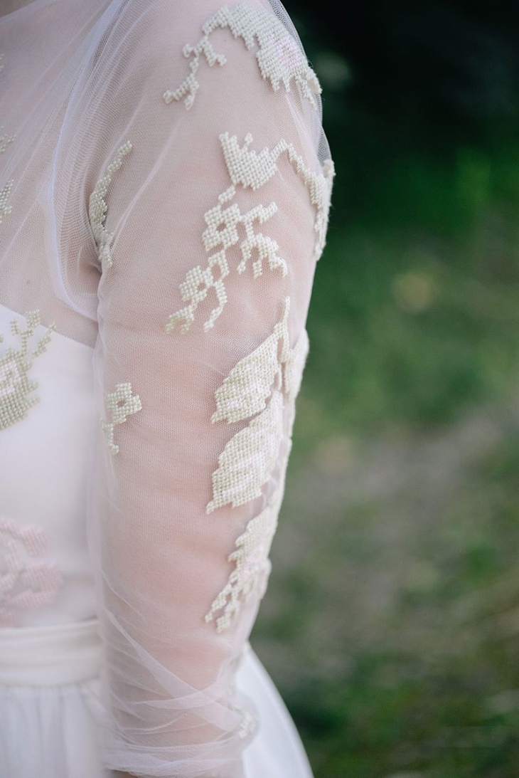 вышивка крестиком свадебное платье