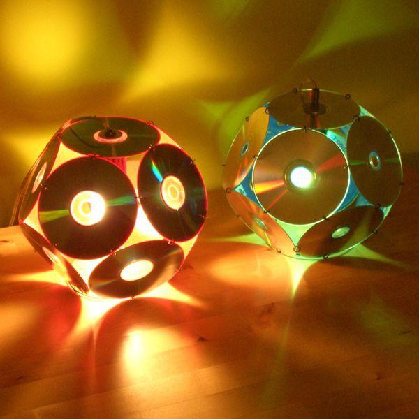Светильник диск, своими руками, сделай сам