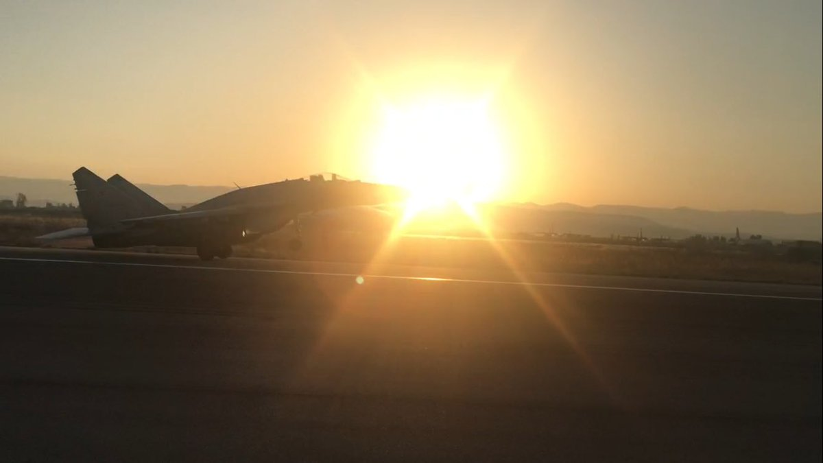 МиГ-29СМТ в Сирии на авиабазе Хмеймим