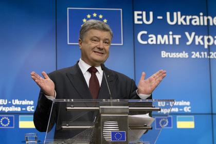 Порошенко пообещал отменить запрет на экспорт леса в обмен на транш ЕС