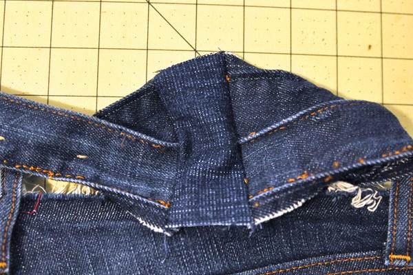 Как на джинсах увеличить пояс своими руками