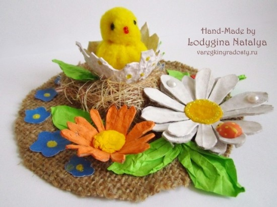 Пасхальные идеи из яичных лотков и других бросовых материалов