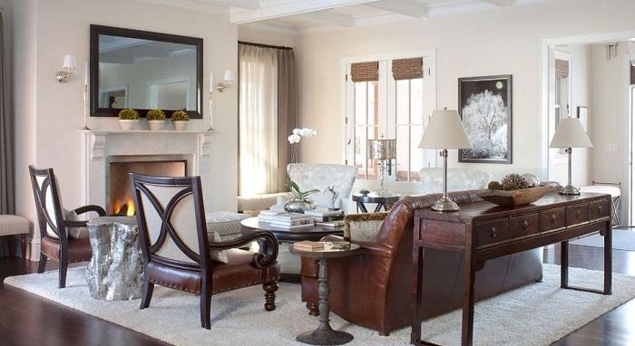 Деревянные элементы добавляют определенного шарма и эстетике общей картине этого прекрасного декора комнаты.
