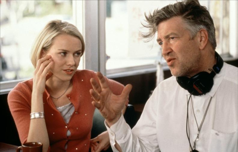 Наоми Уоттс и Дэвид Линч во время съёмок фильма «Малхолланд Драйв». Фото