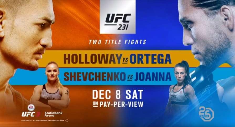 Файт-кард шоу UFC 231. Холло…