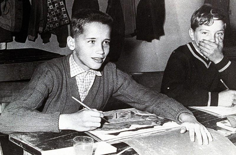 13. Арнольд Шварценеггер в детстве. история, фото