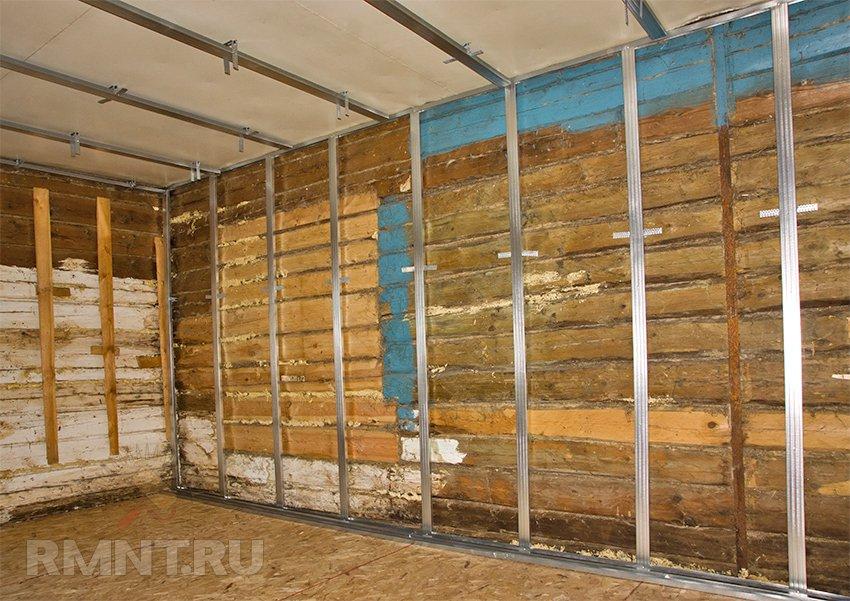 Как сделать стены гипсокартоном в деревянном доме