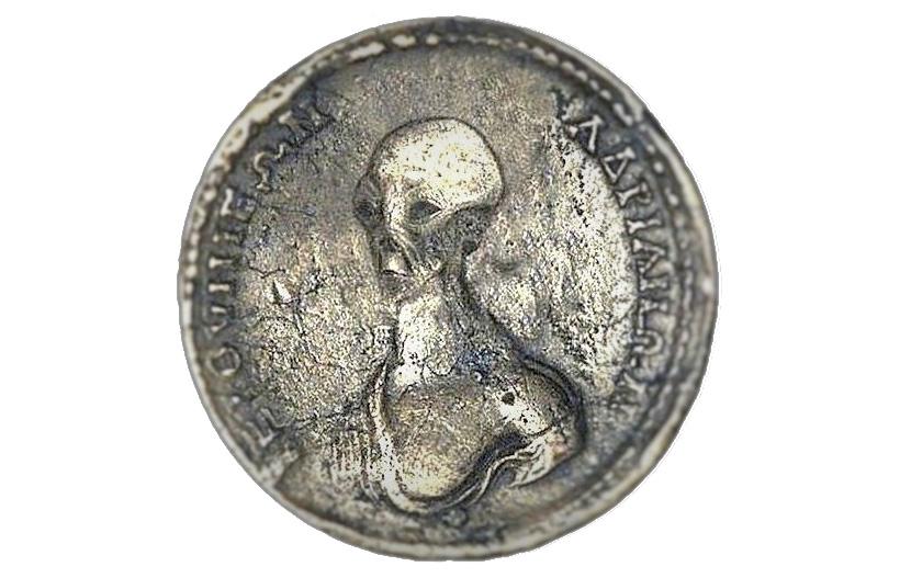 Монета с пришельцем - фейк, сделанный на коленке.