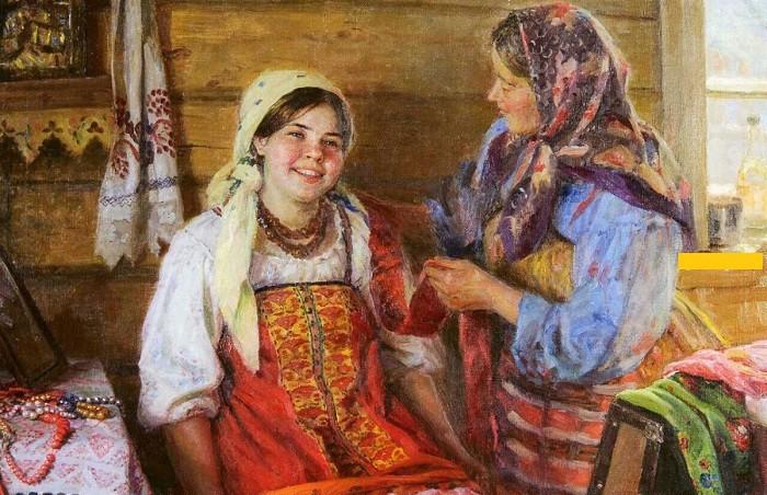Дрожжи внутрь, масло наружу. Как русская крестьянка ухаживала за своей красотой. Картина Федота Сычкова