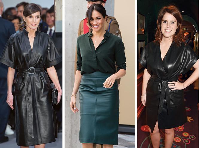 Бунтарки: как королевские особы носят кожаные вещи