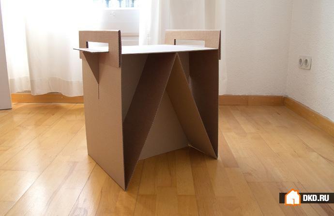 Картон сделать своими руками мебель