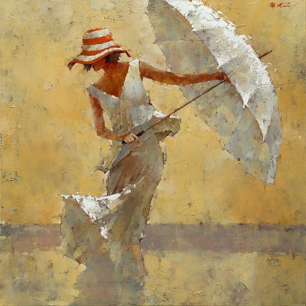 Очаровательный зонтик — подборка прекрасных мгновений, пойманных кистью живописца