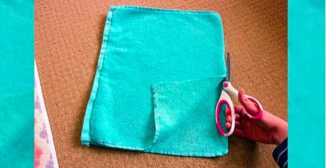 Как сделать коврик в ванную из махрового полотенца